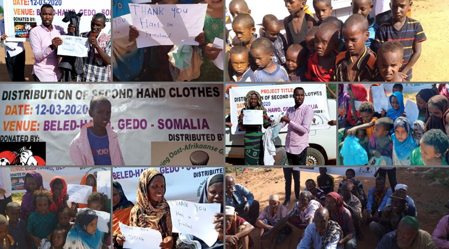 Sponsoring Stichting Hart in Friesland: kleding voor Somalië