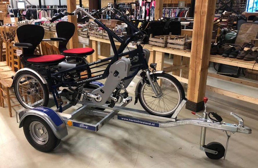 De 'Samen op stap' fiets van Hart in Friesland